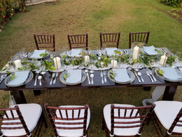 Wooden Banquet Table