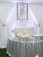 Sweetheart Table with Monogram