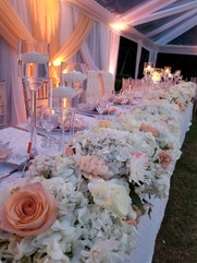 Head Table Floral Garland