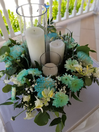 Pillar Candle Centerpiece