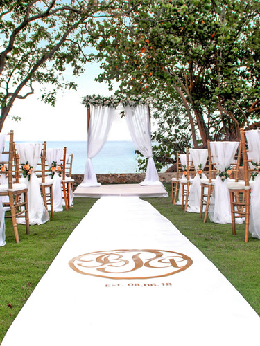Ceremony with Custom Aisle Runner