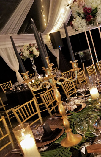 Candelabra with Pillar Candles