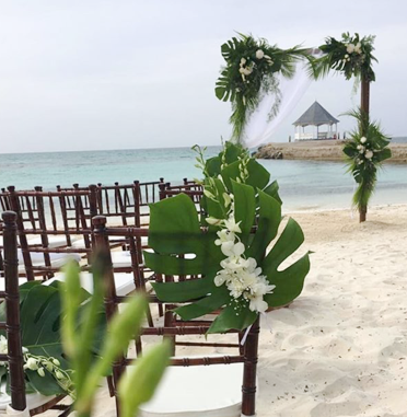 tropical aisle markers