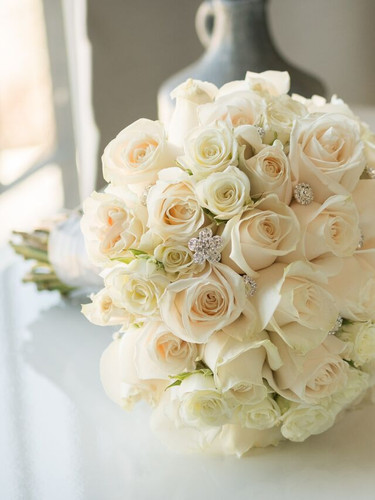 Rose and Crystal Bouquet