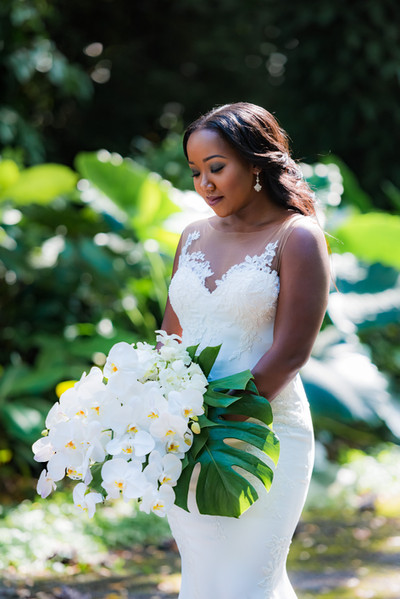Bride and Orchid Bouquet