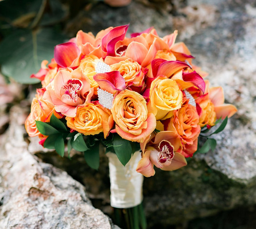 Large Rose, Cala Lily and Orchid Bouquet