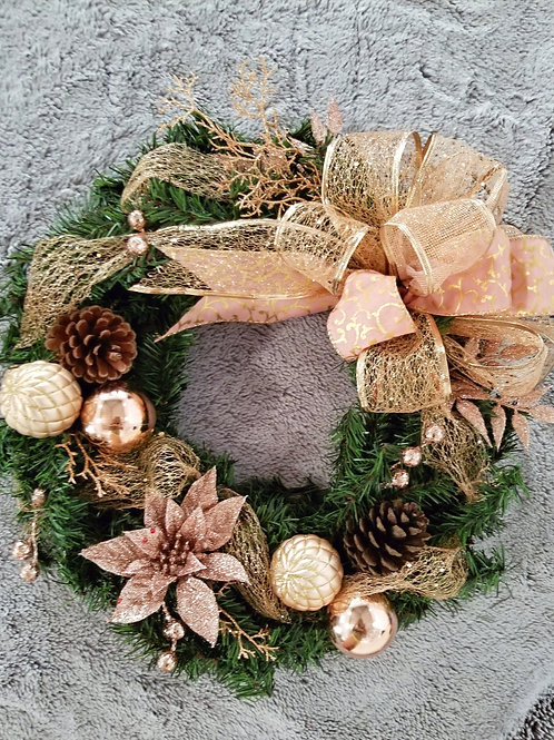 Rose Gold/ Blush Christmas Wreath