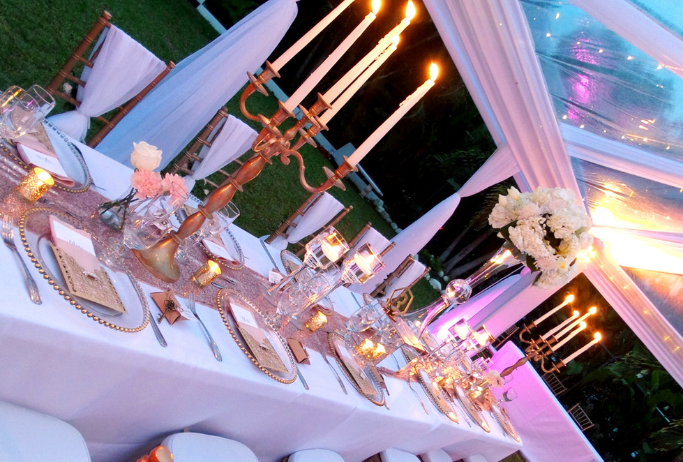 candelabra tablescape