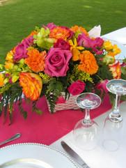 Low Tropcal Floral Arrangement