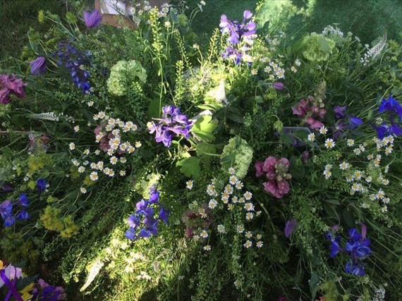 wild flowers coffin top