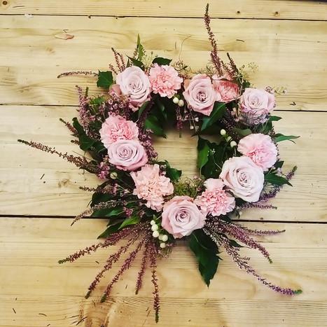 pink heather heart