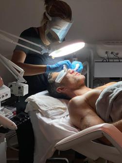 Gentleman grooming exfoliating facial