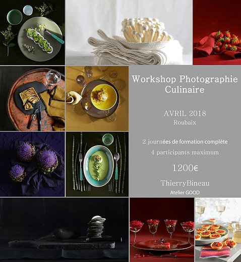 Workshop Photographie Culinaire Avril 2018
