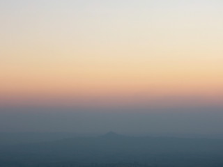 Glastonbury Tor from the Mendip Hills