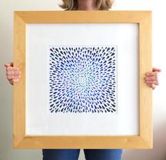 Cloudburst (framed), 2020, 50x50cm