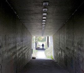 Pedestrian subways under the M60 motorway, Portwood, Stockport