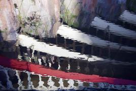 Reflections, Rochdale Canal railway bridge