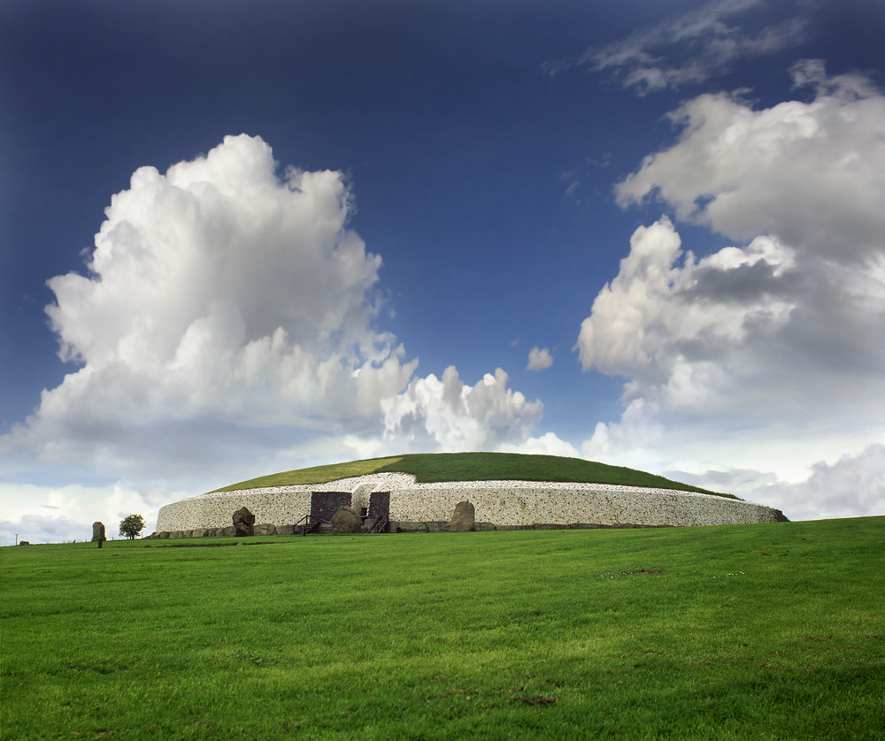 Megalithic burial site at Newgrange, Ireland