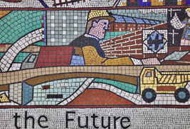 Community mosaics, Wellington Road, Ashton-under-Lyne