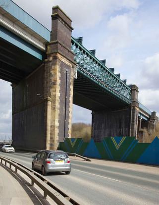 Railway bridges, Cadishead Way, Irlam, Salford