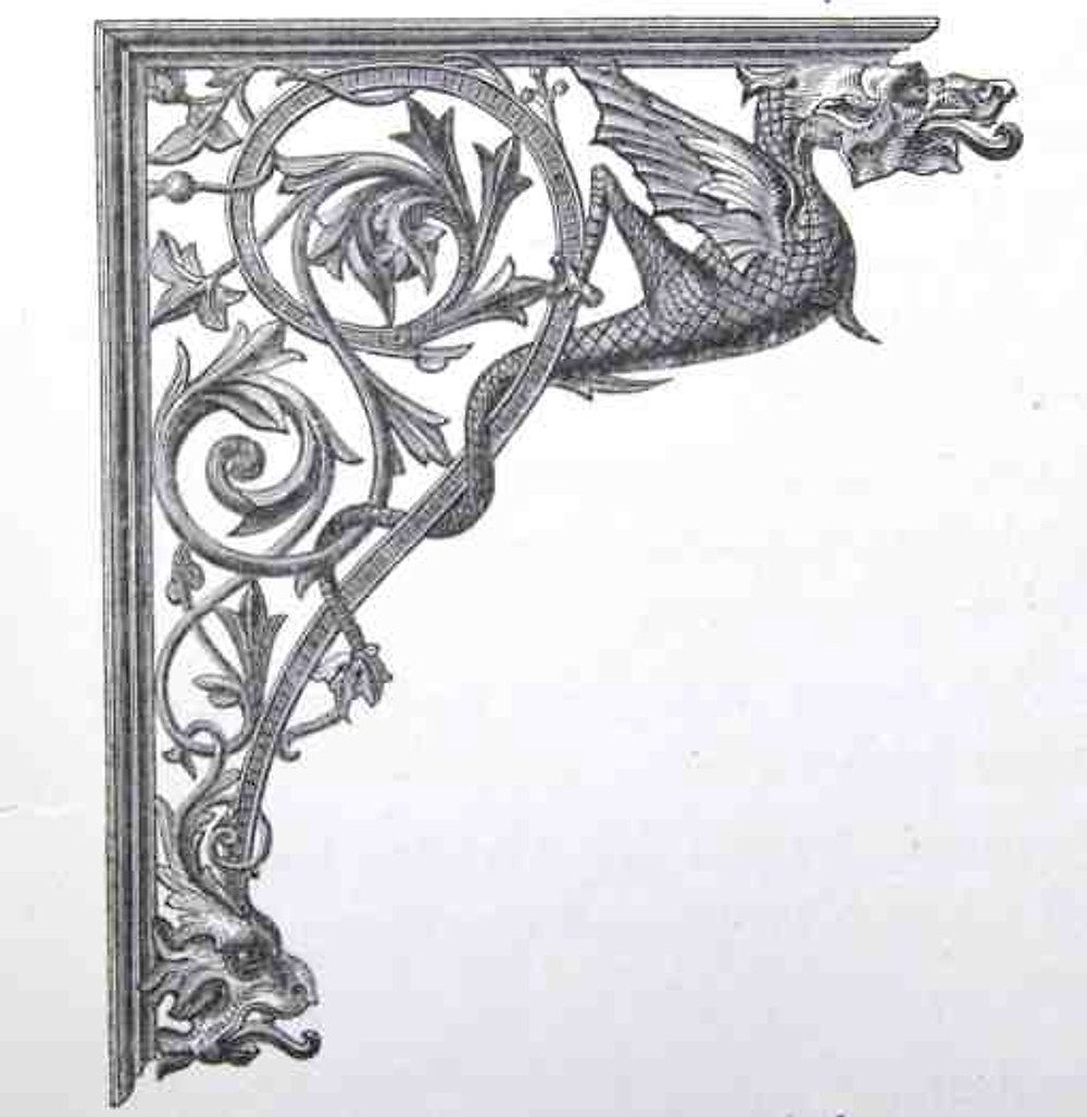 5. Cast-iron bracket from the sixth edition of Macfarlane's catalogue, 1882.