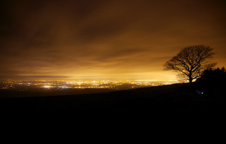 Manchester from Lyme Park near Disley