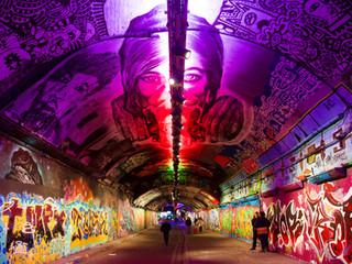 Leake Street tunnel, London