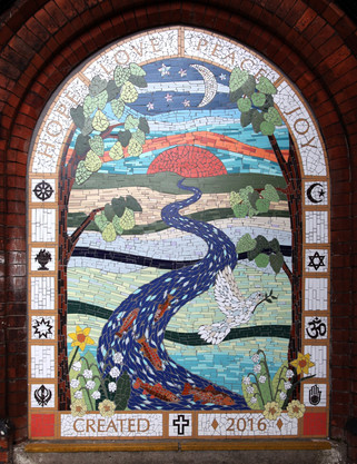 Peace Mosaic, Chorlton Central Church, Zetland Road, Chorlton
