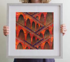 Viaducts (framed), 2020, 35x35cm