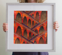Viaducts (framed), 2020, 35x35cm
