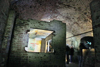 Sleeping area, Second World War air-raid shelter under the Great Northern Warehouse