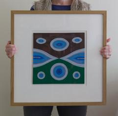 Peak Hollows (framed), 2012, 50x50cm