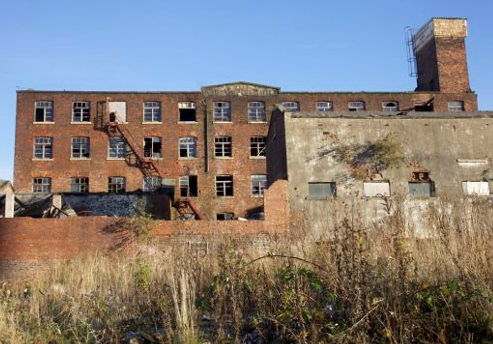 3. The ruined Springfield mill just inside Salford