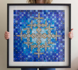 Lucky Star (framed), 2015, 56x56cm