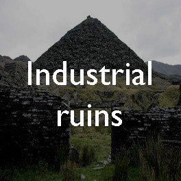 Industrial ruins: abandoned slate quarries in North Wales