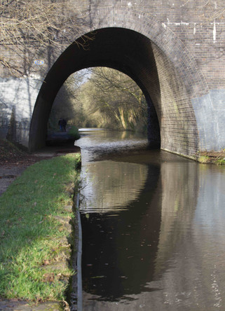 Railway bridge, Peak Forest Canal, Woodley, Stockport