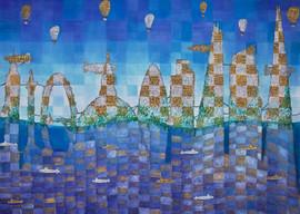Drowned City, 2016, 70x50cm