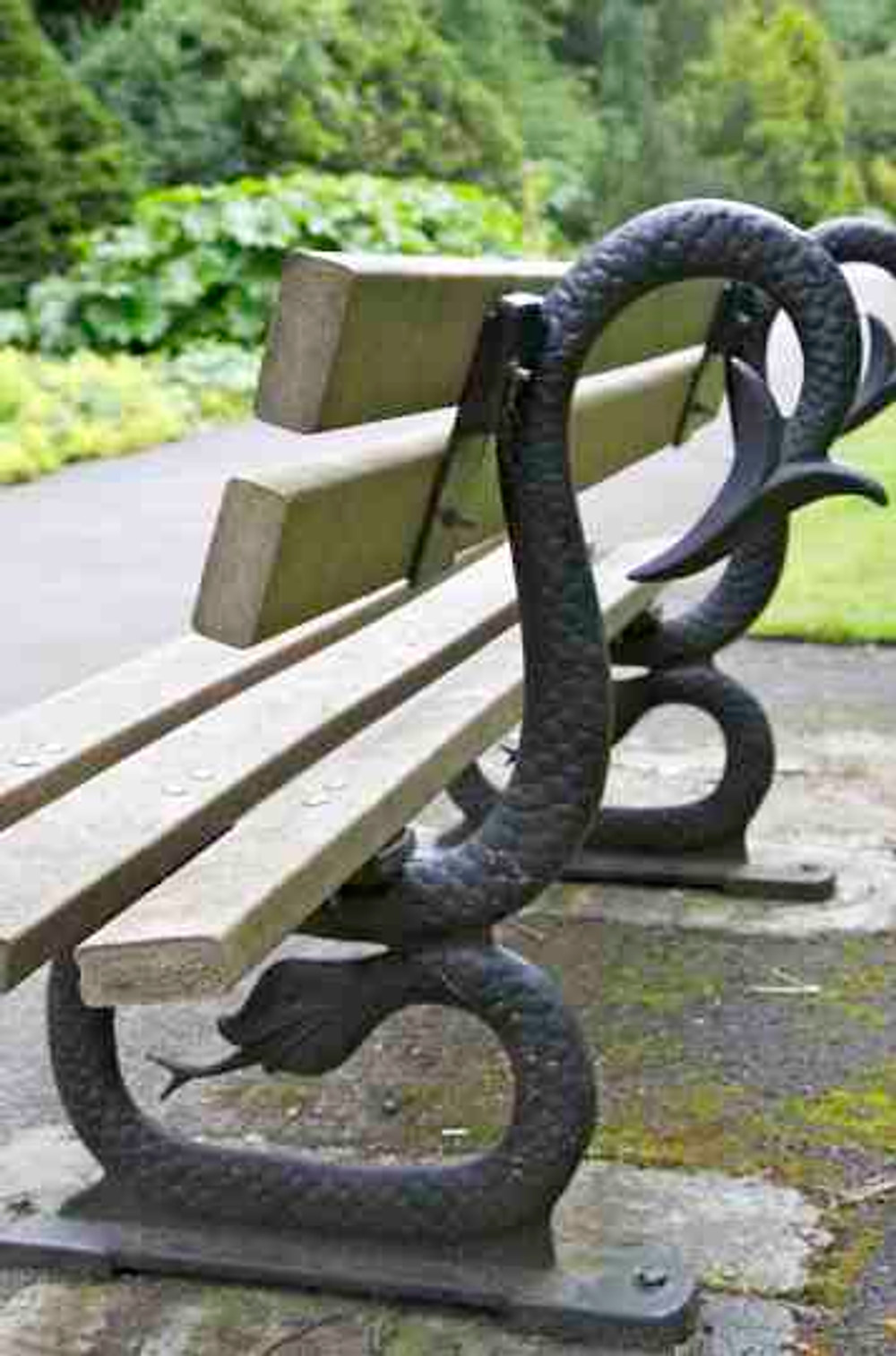 4. Bench in Valley Gardens, Harrogate, c.1880s.