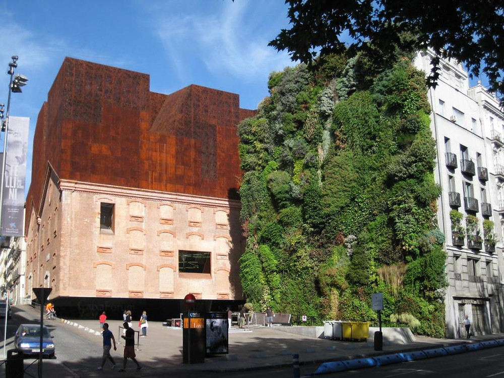 The vertical garden of the Caixa Forum, Madrid