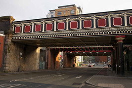 Railway viaducts, Salford Central Railway Station, Crescent Street, Salford