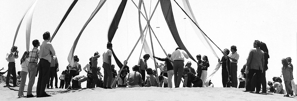 1971 - poetic act opening the site