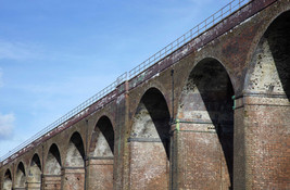 Railway viaduct, Reddish Vale Country Park, Reddish, Stockport