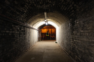 Entrance to the former Second World War air-raid shelters under the Great Northern Warehouse