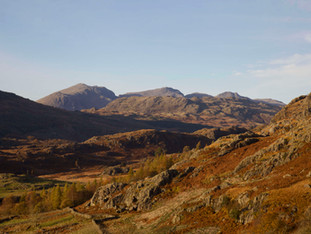 Scafells from the Duddon valley, Lake District
