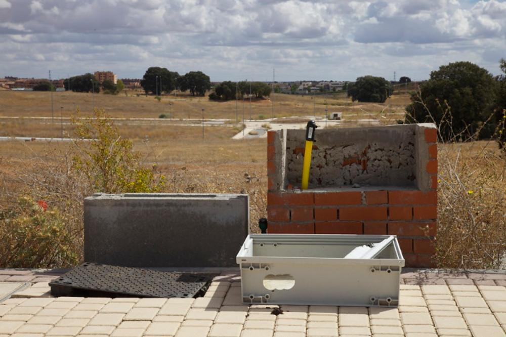 Abandoned junction boxes, Valdeluz