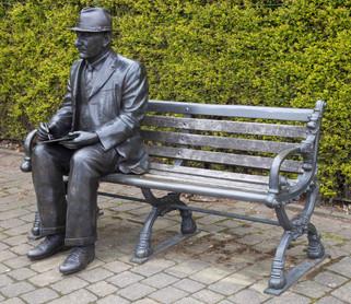 Statue of LS Lowry, Hyde Road, Mottram-in-Longdendale, Tameside
