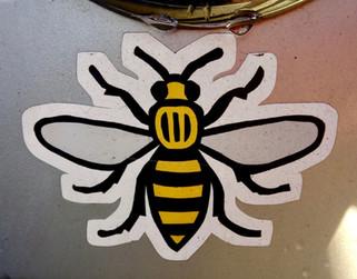 Car sticker, Green Lane, Heaton Moor, Stockport