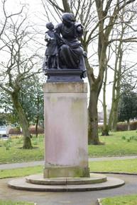 Education statue, High Street, Shaw, Oldham