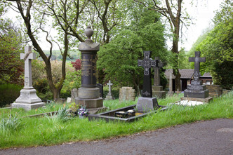 St Thomas's churchyard, Newhey, Rochdale