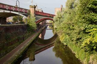 Skew bridge, Rochdale Canal, Deansgate
